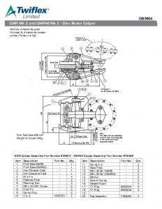Jual Twiflex Disc Brake Caliper GMR DB3604